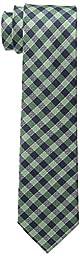 Tommy Hilfiger Men\'s Color Gingham Slim Tie, Green, One Size