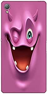 Snoogg Purple Devil Ghost 2685 Case Cover For Sony Xperia Z3