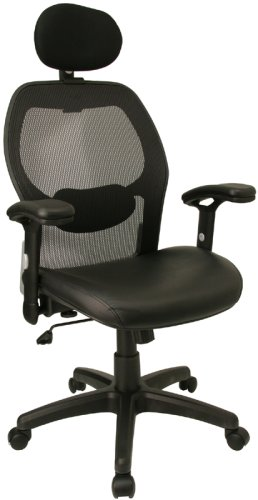 Super Mesh Chair W/ Mesh Back &amp; Italian Leather Seat