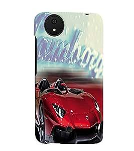 Fuson Lamborghini Back Case Cover for MICROMAX CANVAS A1 ANDROID ONE - D4124