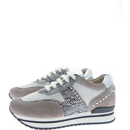 Janet Sport 35729 Sneakers Donna Tela+pelle+camoscio Perla+bianco Perla+bianco 41