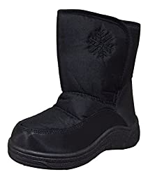 PSW Toddlers SJ600 Snow Boots, Black, 9 M US Toddler
