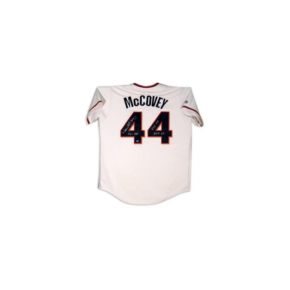Willie McCovey San Francisco Giants Autographed Cream Jersey with ROY 59/69 MVP/521 HR Inscription