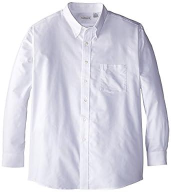 Van Heusen Men's Long Sleeve Oxford Dress Shirt, White, Small