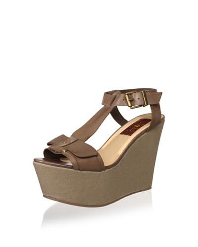 7 For All Mankind Women's Kalistoga Wedge Sandal  - Grey