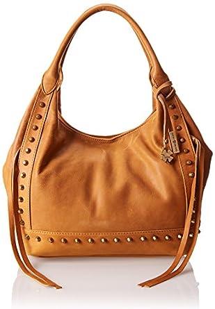 Brand Studded Travel Tote, Cognac, One Size: Handbags: Amazon.com