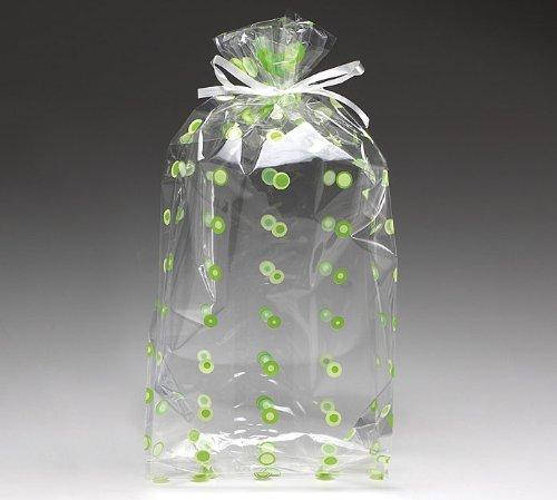 Green Dot Cellophane Cello Bags Party Favor Small