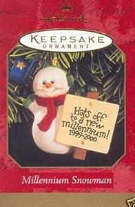 Hallmark Keepsake Millennium Snowman 1999 Christmas Ornament