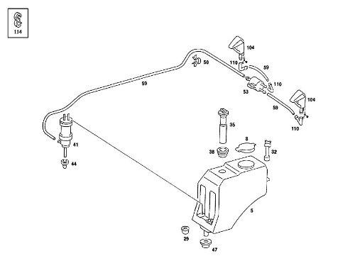1248690072 Mercedes Windshield Washer Fluid Reservoir Cap by Genuine (Mercedes Windshield Washer Cap compare prices)