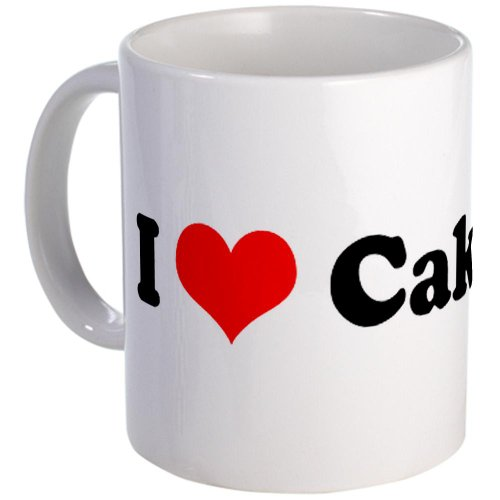 I Love Cake I Heart Mug By Cafepress