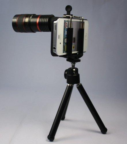 Generic Fom Telescope 8X Zoom Telephoto Long Focal Camera Lens Tripod For Iphone 4 4S - Black