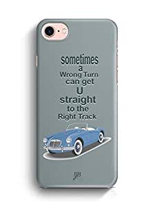YuBingo Straight to the Right Track Designer Mobile Case Back Cover for Apple iPhone 7