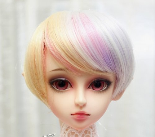 (18~20cm) 1/4 BJD Doll MSD Fur Wig Dollfie Mix Color