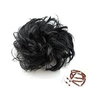 Scunci-like Hair Accessories- Faux Hair Piece Black Ponytail