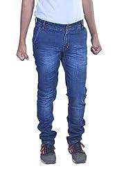 goofy Men's regular fit Cross pocket blue jeans