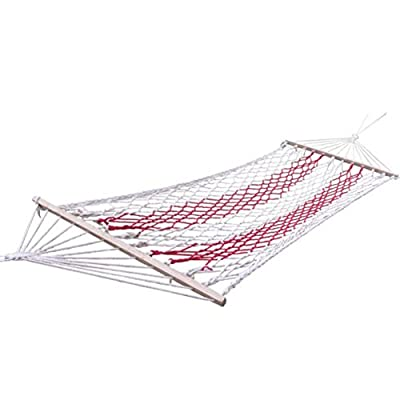 Outdoor mesh hammock with a wooden stick/Single thicker bold swing