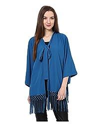 Yepme Lynda Cape - Blue -- YPMCAPE5001_L