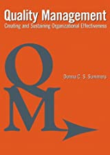 Quality Management by Donna C. Summers