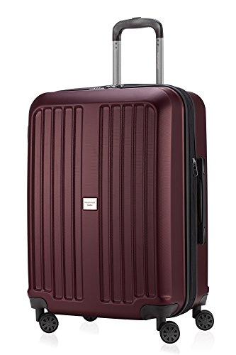 Principale città valigetta XBERG Borgogna con lucchetto TSA Serie opaco 65 cm + borsa piccola cultura