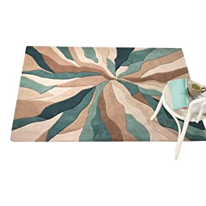 3 Sizes Available - Infinite - Splinter Teal - Good Quality Rug from Flair Rugs
