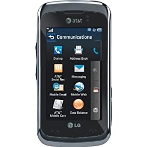 LG GT550 Encore Unlocked Phone with 3MP Camera, GPS, 3G Support and Touch Screen - US Warranty - Black