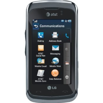 LG GT550 Encore Unlocked Phone with 3MP Camera, GPS, 3G Support and Touch Screen – US Warranty – Black
