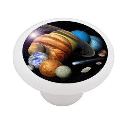 The Solar System Decorative High Gloss Ceramic Drawer Knob