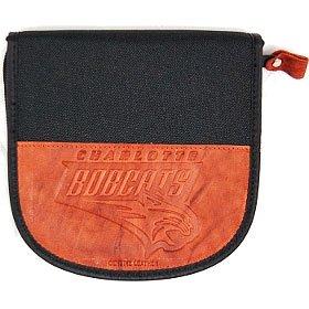 Charlotte Bobcats Leather/Nylon Embossed Cd Case