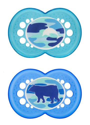 MAM Camo Silicone Pacifiers, Boy, 16 Plus Months, 2 Count