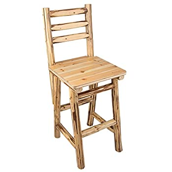 Rush Creek Creations Rustic Bar/Pub Chair - 47""