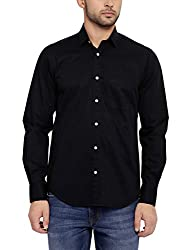 Colorplus Men's Casual Shirt (8907397513170_CMSS25744-K8_Small_Black)