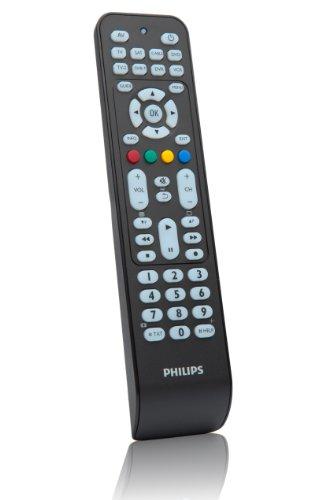 SRP 2008 8-in-1 Universal-Fernbedienung (mit über 800 Geräten, Online-Service-Hotline) schwarz