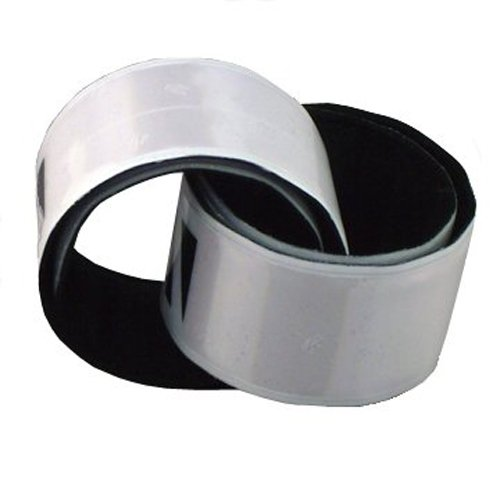 Vedante Vedante Super Reflective Pop Bands (Pair) in Sustainable Packaging (White, Large)