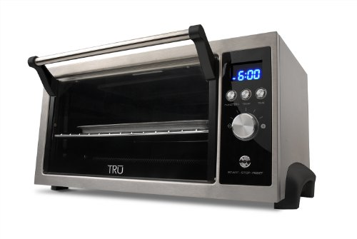 Toaster Oven Kitchen Tru 6 Slice Convection Oven With Toast Bake Broil Convection Defrost
