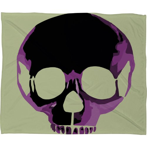 Skull Throw Blanket back-1078084