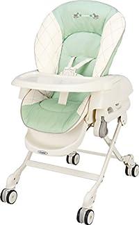 コンビ Combi ハイローベットチェアー ネムリラ エッグショック CE ミルキーグリーン (新生児~4歳頃対象) どこでも4輪キャスター搭載