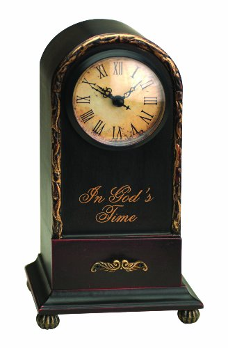Manual Time Well Spent Table Top Analog Clock, In God's Time, 9.5-Inch