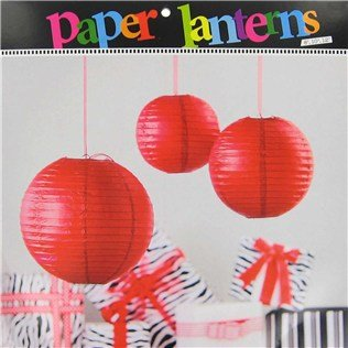 Round Red Paper Lanterns Party Decoration Party Supplies