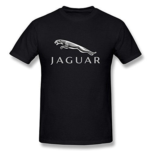 Van Men's British Royal Family Luxury Car Jaguar Brand Logo Tees XL Black