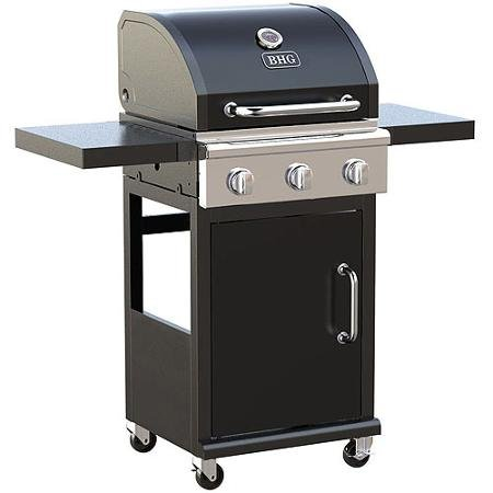3-burner Outdoor BBQ Gas Grill with Foldable Side Panels and Swivel Casters - Gunmetal Gray