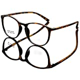 DEDING Retro Round Clear Lens Eyeglasses (brown tortoise , clear )