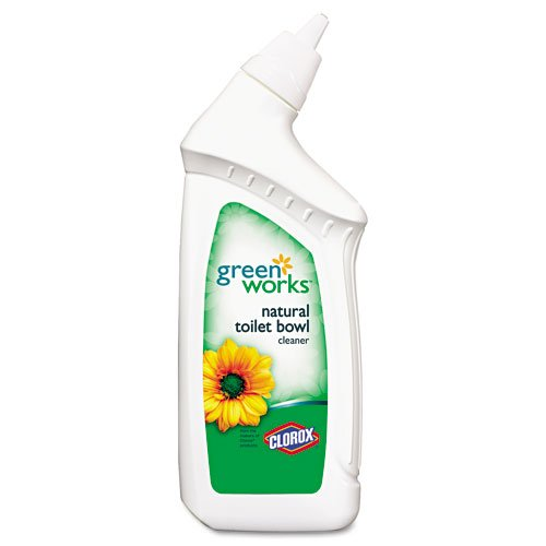 Clorox Products - Clorox - Green Works Toilet Cleaner, 24 oz. Bottle - Sold As 1 Each - Clean your toilets with an environmentally friendly cleaner. - Features plant-derived cleaning agents, essential lemon oils, corn-based alcohol, minerals and filtered water. - Contains no phosphorus or bleach.