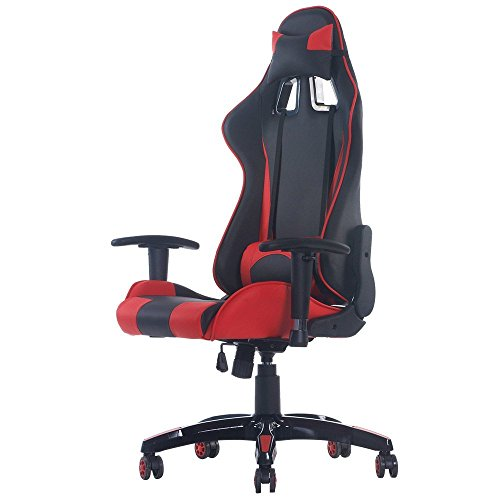 Merax-Fantasy-Series-Racing-Style-Gaming-Chair-PU-Leather-Chair-Red