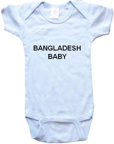 BANGLADESH BABY - Country Series - White, Blue or Pink Baby One Piece Bodysuit жидкость red rock 20 мл 0 мг ghost island