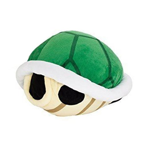 "Taito Super Mario Bros. Giant Koopa Shell XL Stuffed Plush, 12"", Green"