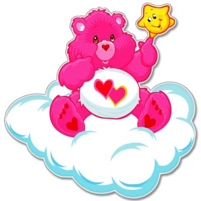 Care Bears Love Bear Kids Vynil Car Sticker Decal - Select Size front-689998