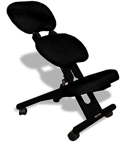 Chaise ergonomique professionnel avec dossier couleur noir - Chaise ergonomique repose genoux ...
