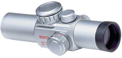Millett 1X24 Multidot Sp 3 5 8 10 Moa Dot Red Dot Riflescope (30Mm Tube), Silver