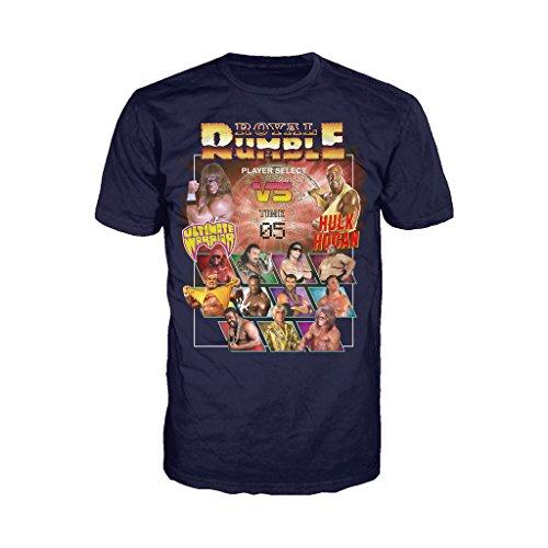 WWE Royal Rumble carattere selezionare ufficiale da uomo T-Shirt (Blu Scuro) Navy XX-Large