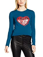 Love Moschino Camiseta Manga Larga (Azul)